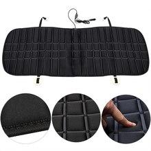 El asiento del coche calienta la funda del asiento trasero, cojín del asiento trasero del coche, cojín calentado, protección cálida, calentador de invierno de 12V