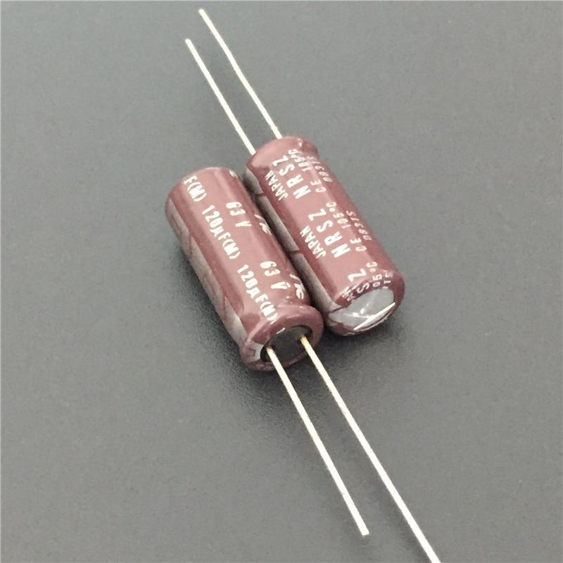 10pcs 120uF 63V Japan NIC NRSZ Series 8x20mm Very Low Impedance 63V120uF Aluminum Electrolytic Capacitor