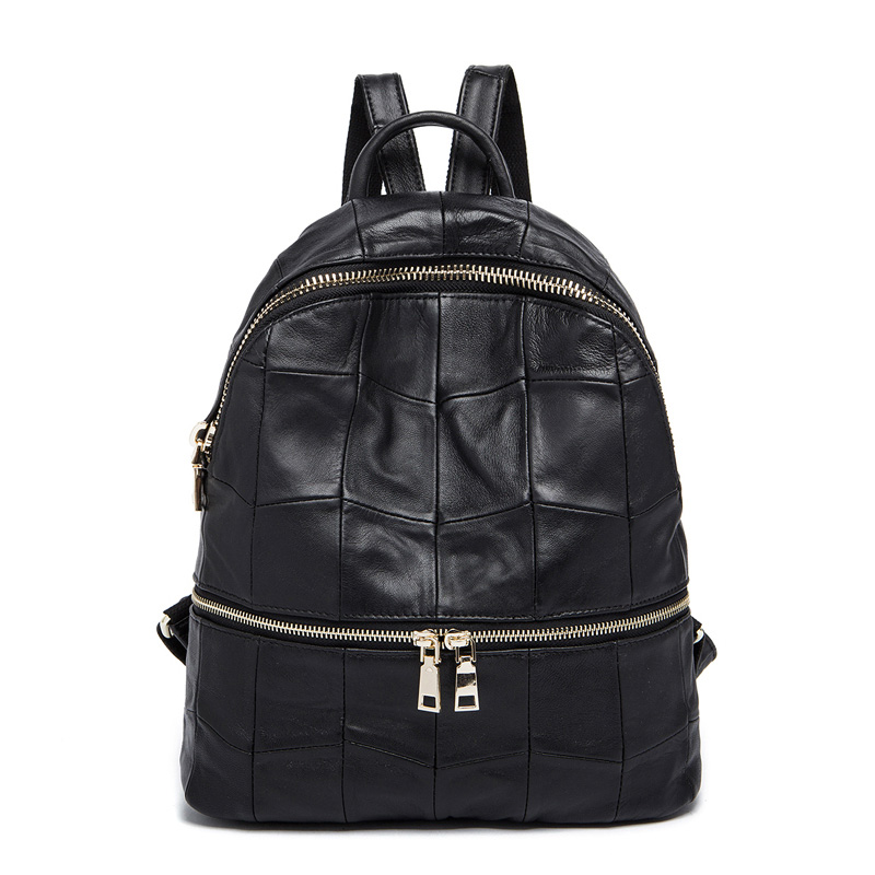 Women Genuine Leather Backpacks Brand Ladies Fashion Backpacks For Teenagers Girls School Bags Real Leather Travel Bags 8908# new brand designer women fashion backpacks simple koran style school for teenager girls ladies shoulder bags black