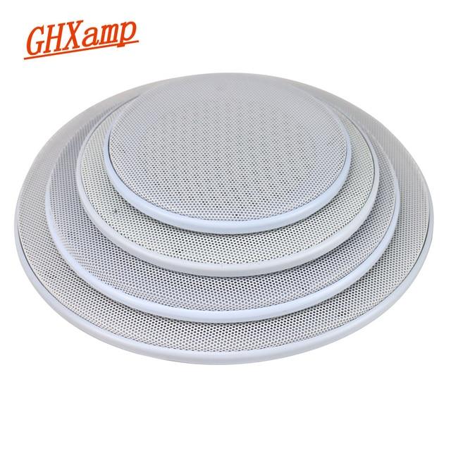 GHXAMP 5 นิ้ว 6.5 นิ้ว 8 นิ้วซับวูฟเฟอร์รถลำโพงย่างตาข่ายอัตโนมัติลำโพงตกแต่งป้องกัน ABS สูง end สีขาว