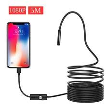 1080 P Full HD USB กล้อง Endoscope Android IP67 1920*1080 1 M 2 M 5 M ตรวจสอบกล้องงู Borescope Tube