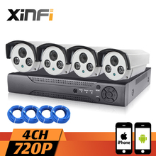 XINFI 4CH Surveillance System HDMI NVR Community Video Recorder 720P HD Dwelling Safety Digicam System CCTV equipment