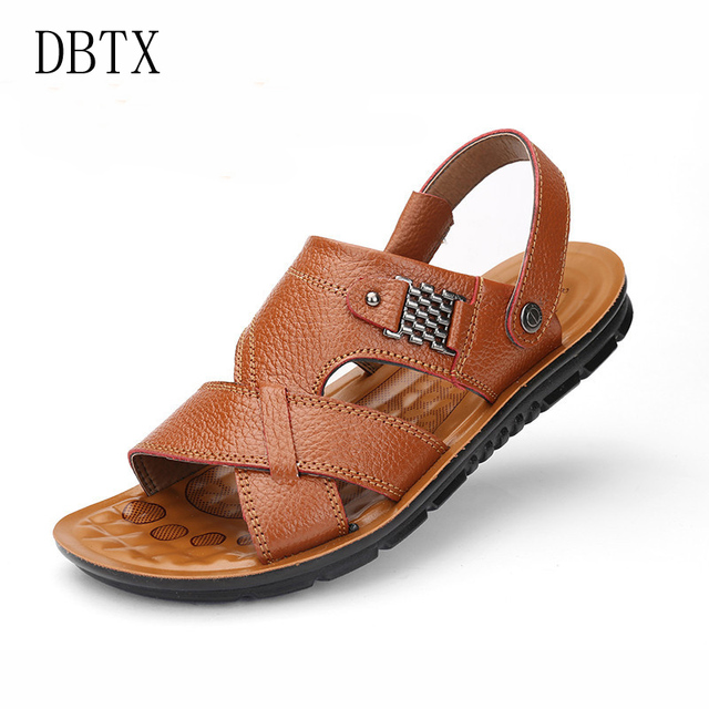 601da2c2fd9cd Man Sandals Leather Shoes Summer Men's Slippers Beach Casual Breathable  Home Slippers Men Croc Shoes Flip-Flops Zapatos 789