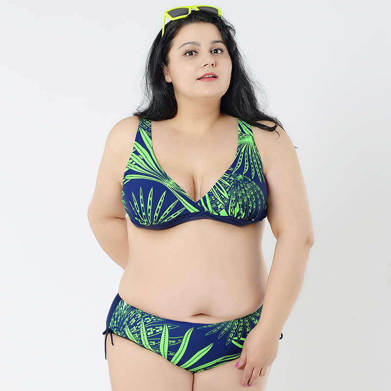 721dbd0056c28 XL 5XL Plus Size Swimwear Large Size Sexy with a High Waist Hip Bikini Wire  Free Bathing Suits Bikini Set wimwear For Big Girl-in Bikinis Set from  Sports ...