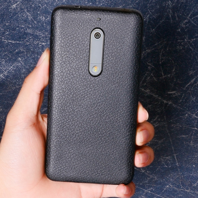 sale retailer 9abe8 35b66 Nokia5 Case Protective Cases for Nokia 5 Case Nokia 5 Cover Silicone Matte  Soft TPU Phone Back Fundas for Nokia 5 Case Leather-in Fitted Cases from ...
