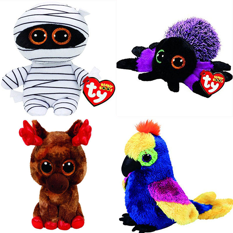bec12aa0513 Ty Beanie Boos 6″ 15cm Mummy Halloween Unicorn Spider Dog Mouse Cow Owl Cat  Plush Regular Stuffed Animal Big Eyes Doll Toy