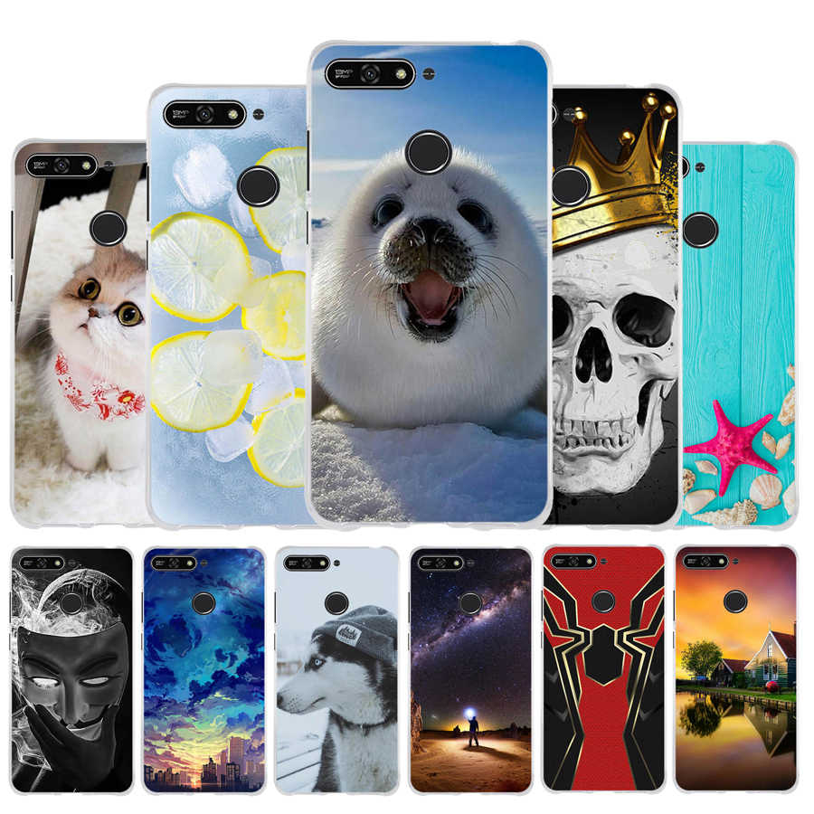 Silicone Case For Huawei Honor 7A Pro case Honor7a For Huawei Y6 2018 / Y6 Prime 2018 Soft TPU Cover Phone Case Cute Enjoy 8e