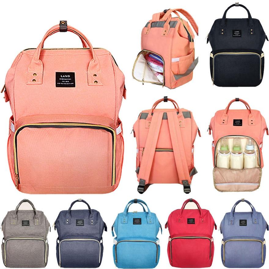 LAND Update Mummy Maternity Napyy Bag Brand Large Capacity Baby Bag Travel Backpack Desiger Nursing Bag For Baby Care
