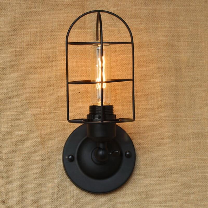 industrial Portuguese style mini Vintage Loft Adjustable antique black Metal Wall Light lamp Sconce Lamp Fixtures for workroom