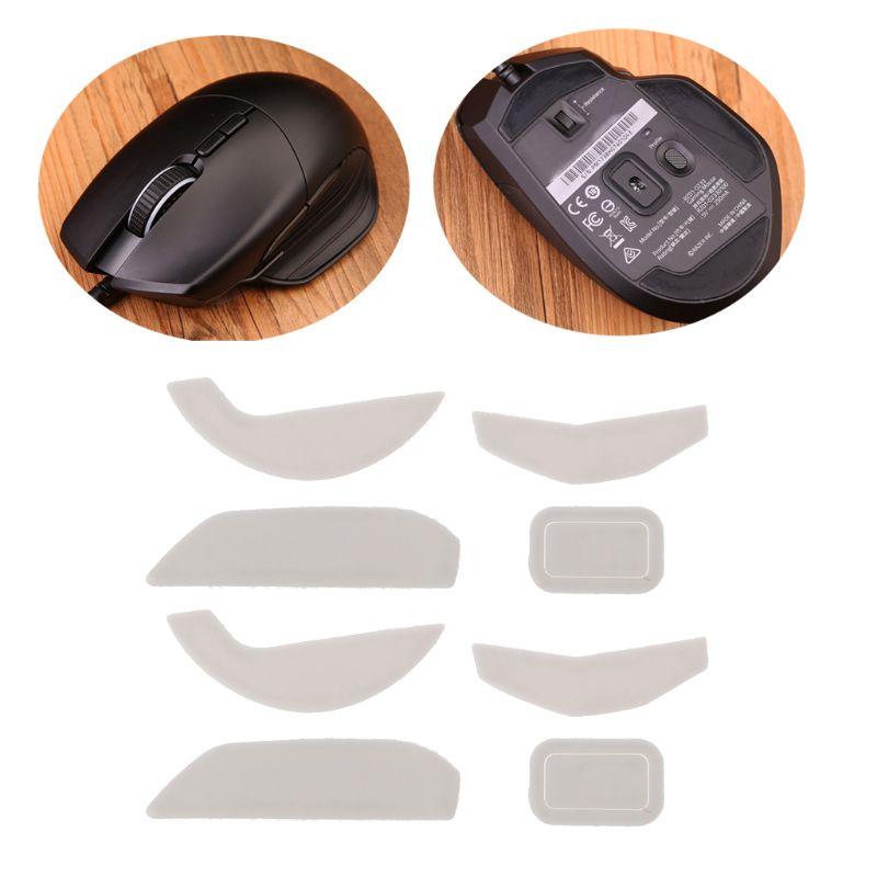 2 Sets/pack Tiger Gaming Mouse Feet Mouse Skate For Razer Basilisk Wired Mouse White Teflon Mouse Glides Curve Edge