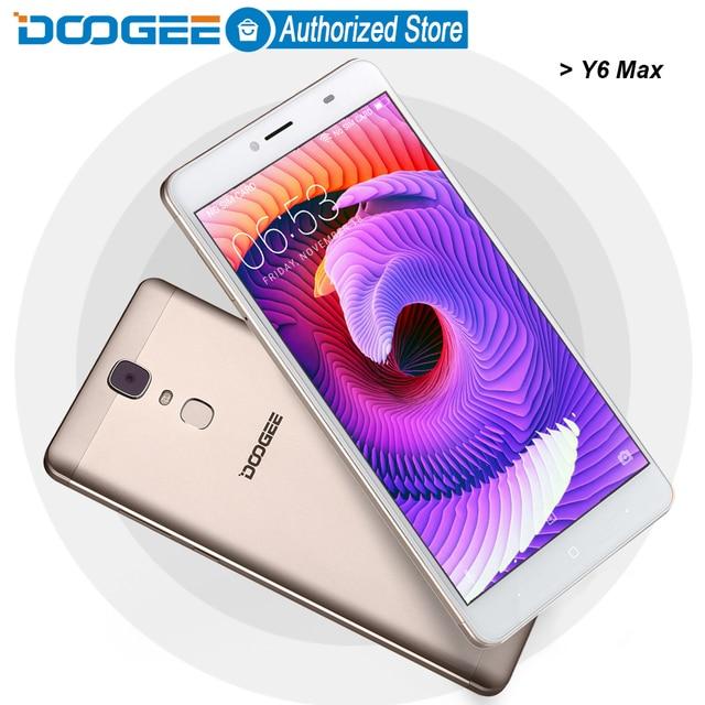 DOOGEE Y6 Max mobile phones 4G LTE 6.5Inch FHD 3GB+32GB Fingerprint Android 6.0 DualSIM MTK6750 Qcta Core 4300mAH WCDMA GSM 13MP