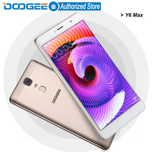 Doogee Y6 Max mobile phones 4G LTE 6.5Inch FHD 3GB+32GB Fingerprint Android 6.0 DualSIM MTK6750 Qcta Core 4300mAH WCDMA GSM 13MP