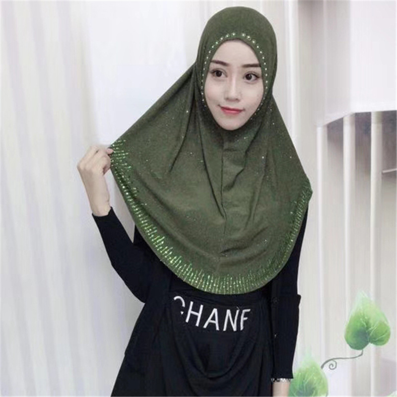 Two piece al Amira instant ready made Hijab with lace scarf + bonnet