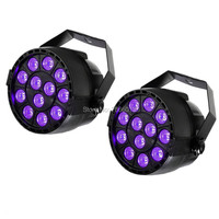 2pcs Lot 12X3W UV LED PAR Light DMX Stage Lighting Effect DMX512 Master Slave Led Flat