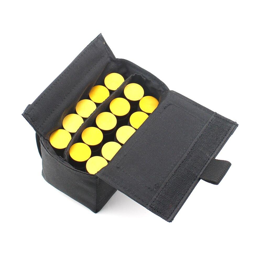 Tactical Molle Shotshell Reload Holder 15 Rounds Shotgun Shell Magazine Waist Pouch Black