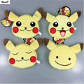 Cute Kawaii Poke Ball Pikachu Plush Toy  Ball Keychain Pendant Purse Card Package Soft Doll Keychain Baby Gifts Figure Toys