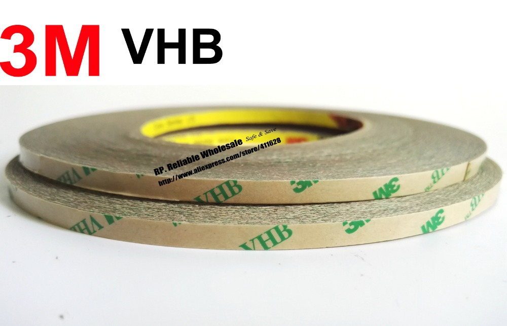 0 25mm Thick 10mm 33M Super Strong 3M VHB Transfer Tape High Temperature Resist For Metal