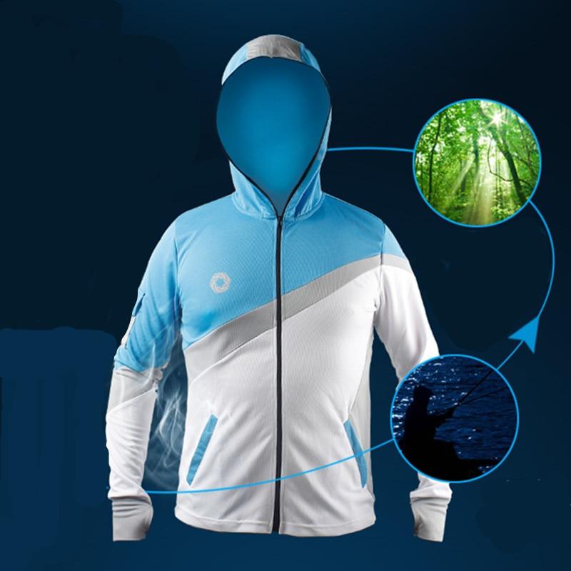 2018 Men Professional fishing Brand clothing men fishing shirt summer mosquito Anti UV sunscreen breathable quick