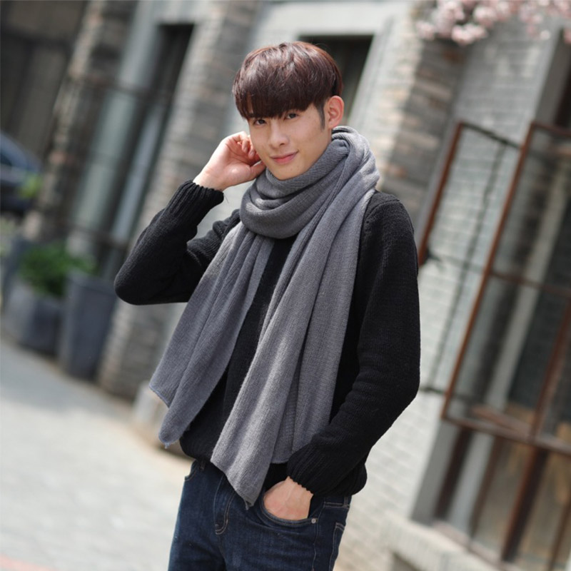 New Hot Sale Women Men Imitation Cashmere Winter Warm Scarves Soft Long Sacrf Popular Solid Color Lovers Scarves