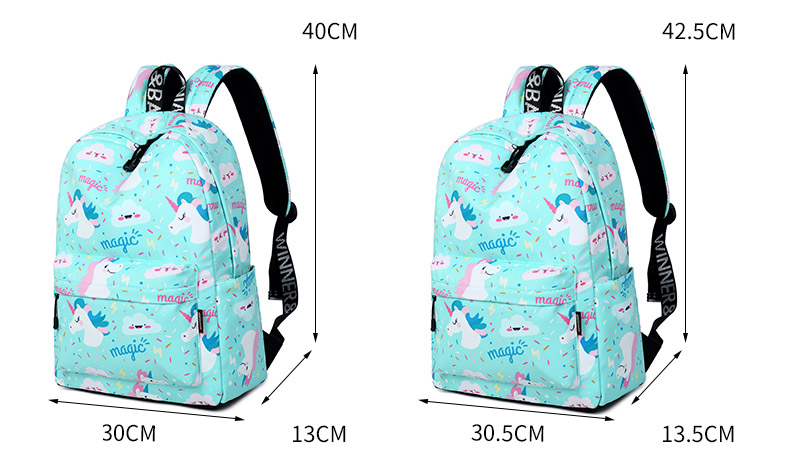 WINNER Women Backpack Unicorn Cute School Printing Backpack Bookbag School Bags For Teenage Girls Mochila Travel Softback (1)