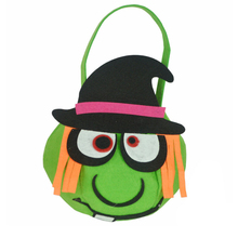Top Grand Halloween Witch Bag Kids Candy Handbag Bucket Children Cute mini Bags Funny Gift bags