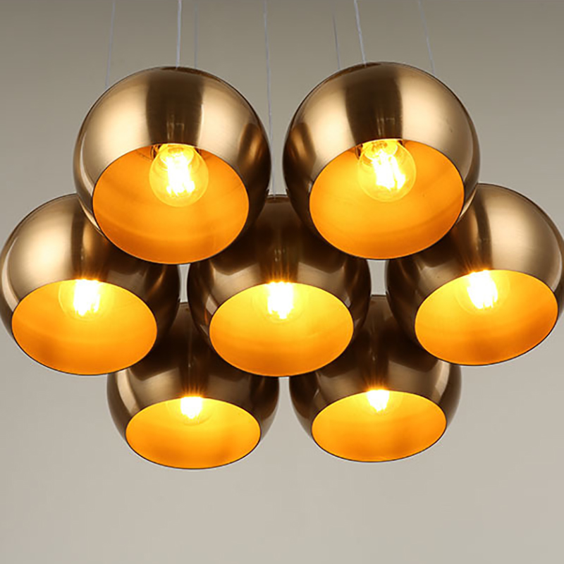 vintage Pendant Lamp 7 heads industrial cage lighting Modern Classic