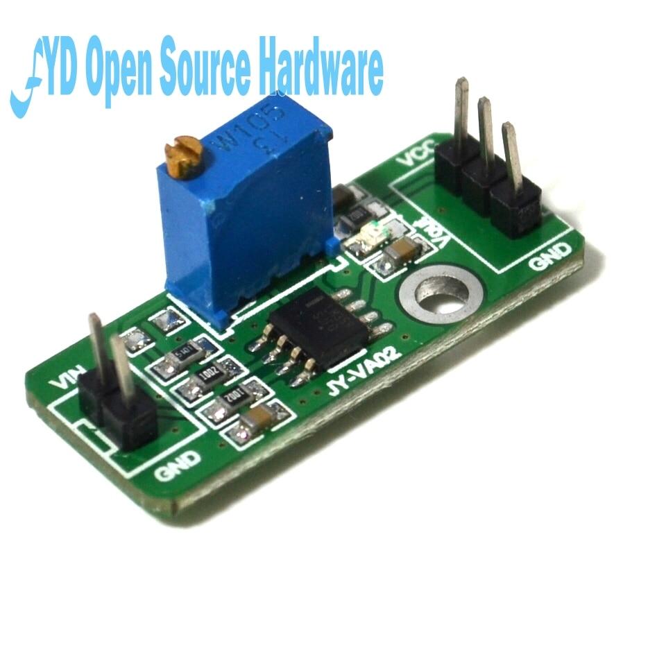 5 PCS Weak signal acquisition dc amplifier LM358 adjustable magnification analog output module