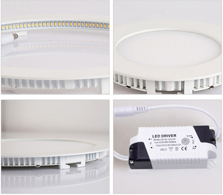 12W Square LED Panel Light With 120pcs SMD3014 100~110lm/W 2 Years Garanteed Warm White/Cold White