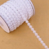 3013 Fashion Accessories Imitation Pearls DIY Decoration Free Shipping 5m White