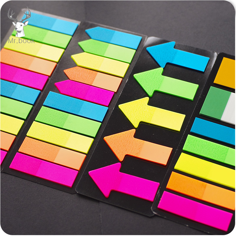 Colorful 20 Sheets 5 Colors Creative Arrow Index Tabs Flags Sticky Note For Page Marker Stickers Office Accessory Stationery
