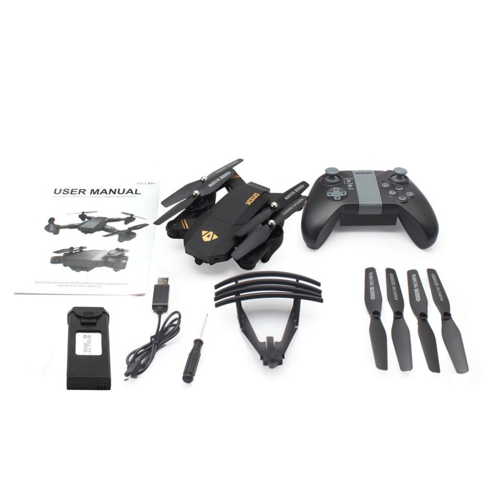 VISUO XS809HW 2.4G Foldable FPV Selfie Drone RC Quadcopter with 720P Wide Angle Camera Altitude Hold with Two BatteriesVISUO XS809HW 2.4G Foldable FPV Selfie Drone RC Quadcopter with 720P Wide Angle Camera Altitude Hold with Two Batteries