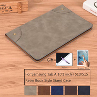 galaxy tab Stand Tablet Case for Samsung Galaxy Tab A 10.1 2019 SM-T510 SM-T515 funda PU Leather Flip Retro Cover Protective Shell (1)