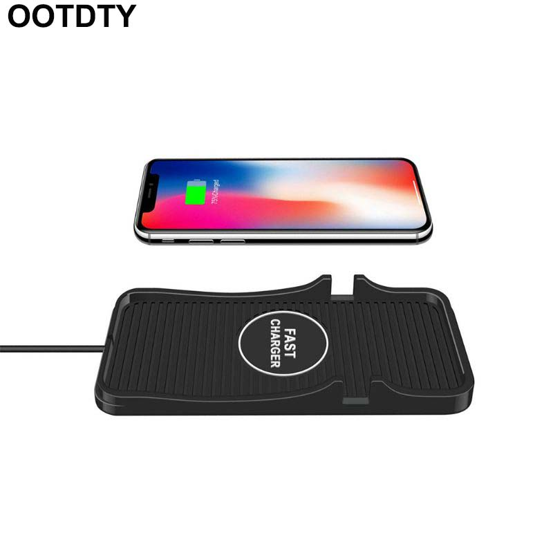 Car Wireless Charging Pad Qi 10W Mobile Phone Quick Wireless Charger for iPhone XR XS 8+ Samsung S7 S9 NOTE 9/8 Huawei Mate 10