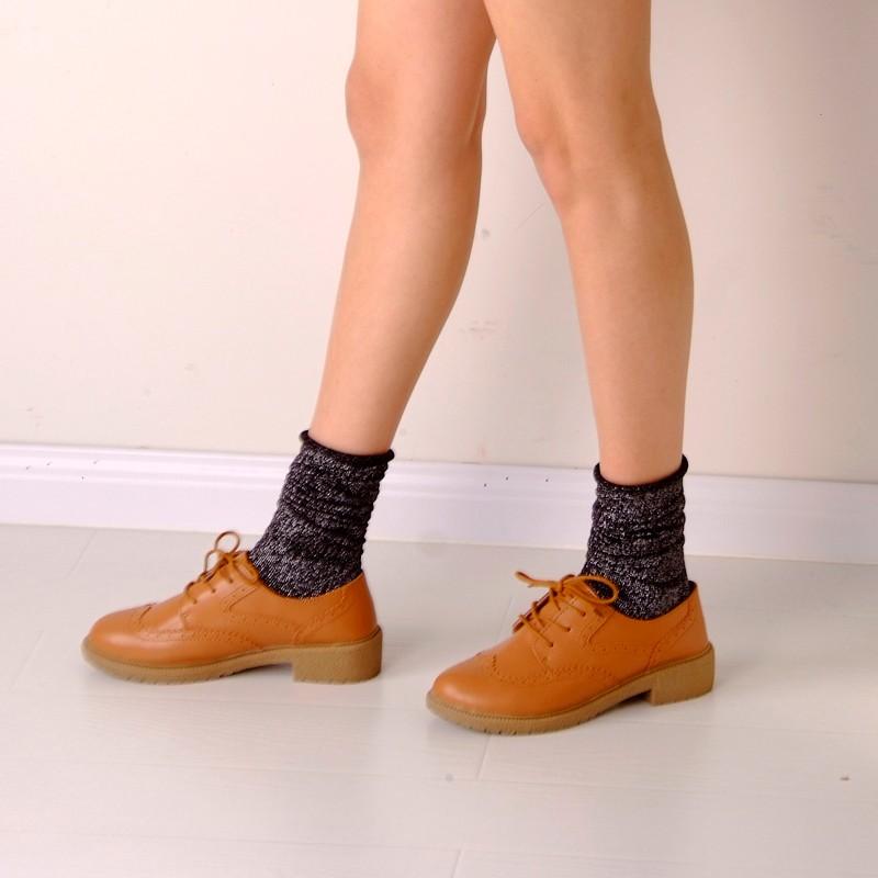 Fashion Long Socks Women Winter Cotton Happy Socks Funny Shiny Loose Glitter Socks Thick Warm Edge Curl Elegant Christmas Socks 7