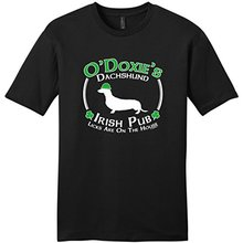 T Shirt Online Store Patricks Day Dog Dachshund Doxie Irish Pub Sign Young MenS Design O-Neck Short-Sleeve Shirts