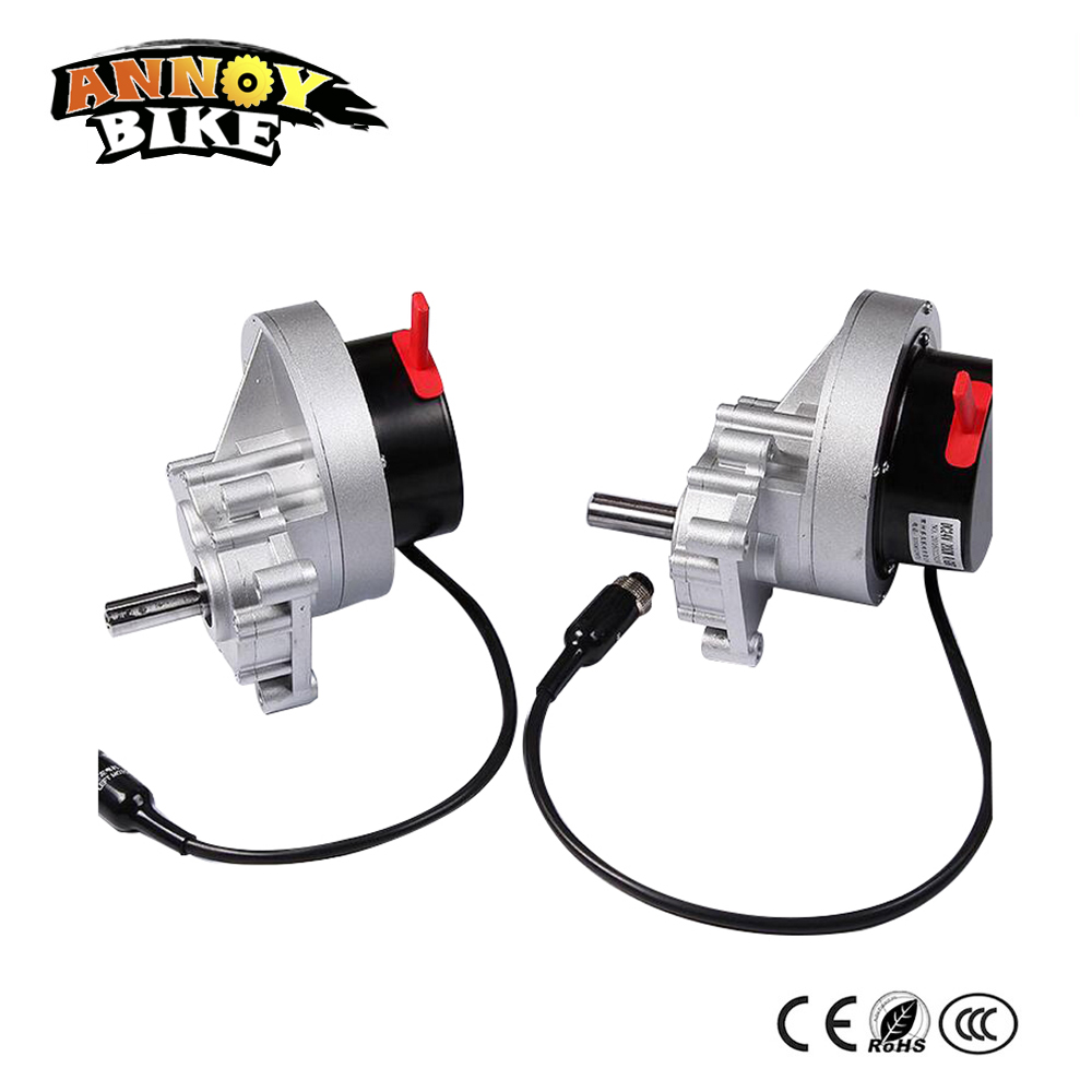 Left & Right One Pair 24v 200w Low Speed High Torque Brush DC Gear Motor For Electric Wheelchair