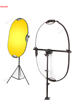 Studio Photo Holder Bracket Swivel Head Reflector Disc Arm Support with 200cm Light Stand T-adjustable alloy reflector CD50 T03Y