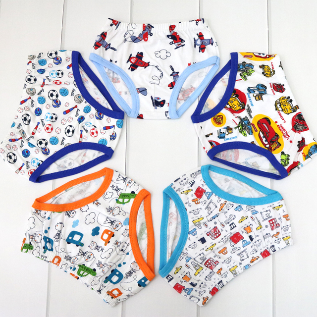 Baby 5 Pieces/lot Panties Children 100% Cotton Underwear Boys Suits 2018 Little Q Low Price Clothes Child Clothing