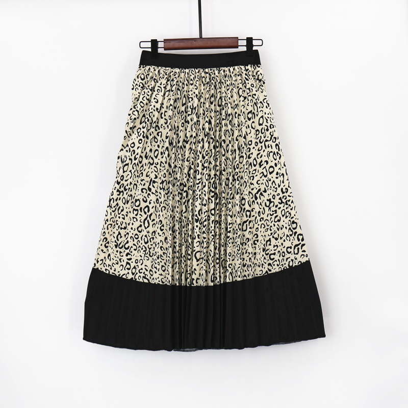 MNOGCC Women's Animal Pattern Long Pleated Skirts 2019 Summer Bohemian Printed High Waist Large Party Club A Line Skirts