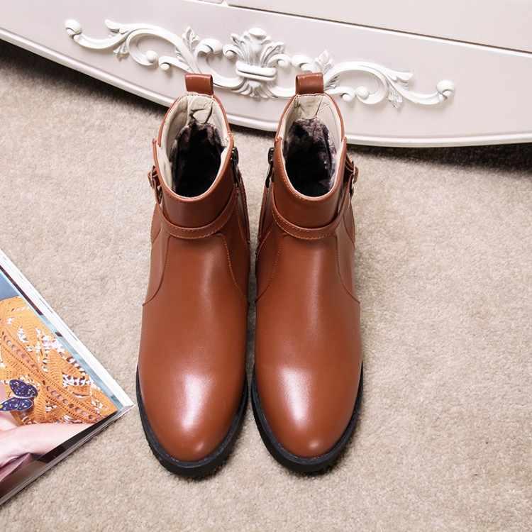 Большие размеры 9, 10, 11, 12; ботинки; женская обувь; ботильоны для женщин; женские ботинки с боковой застежкой-молнией и ремешком