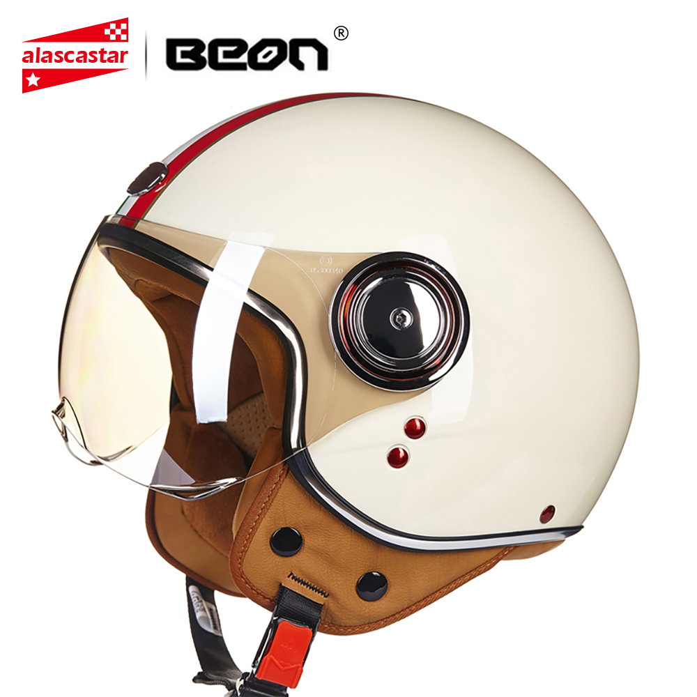 Motorcycle Helmet Chopper 3/4 Open Face Vintage Helmet Moto Casque Casco Capacete Motocross Helmet Scooter Motorbike Helmet electric kettle boiling pot 304 stainless steel home insulation 1 7l