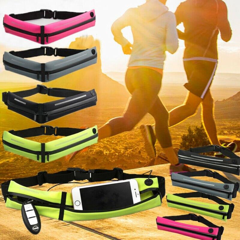 2019 Newest Hot Unisex Solid Waterproof Reflective Sport Runner Waist Bum Bag Running Jogging Belt Pouch Zip Fanny Pack