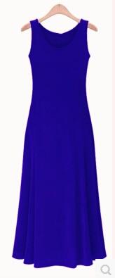 Летнее платье для женщин модное повседневное Макси платье размера плюс черные платья Бохо сарафан вечерние элегантные женские платья - Цвет: sapphire vest