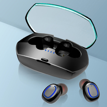 X11 TWS Bluetooth 5.0 Mini Earphones Headset IPX6 Waterproof Noise Cancelling Stereo Wireless Earbuds with Charging Box MIC