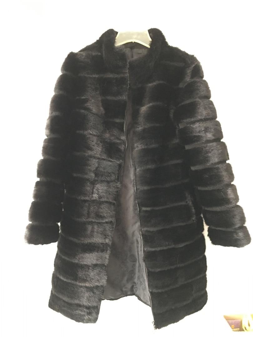 LIYAFUR Real Nerz Pelzmantel für Frauen Natürliche Echte Russische - Damenbekleidung - Foto 5
