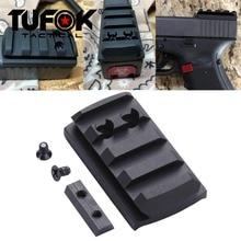 TuFok Glockแผ่นG17/19/22/23/26/27/34 GlockสำหรับViper Sightmark Burris red Dot Sight Picatinny Railฐาน