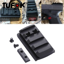 TuFok Glock Plate G17/19/22/23/26/27/34 Glock Mount For Viper Sightmark Burris Red Dot Sight  Picatinny Rail Adapter Base