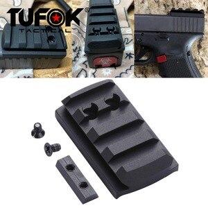Image 1 - TuFok Glock Plate G17/19/22/23/26/27/34 Glock Mount For Viper Sightmark Burris Red Dot Sight  Picatinny Rail Adapter Base