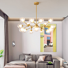 Modern LED Glass Chandelier Lights Nordic Creative Concise Style glass ball Chandeliers Dining Room Bar Kitchen Light недорого