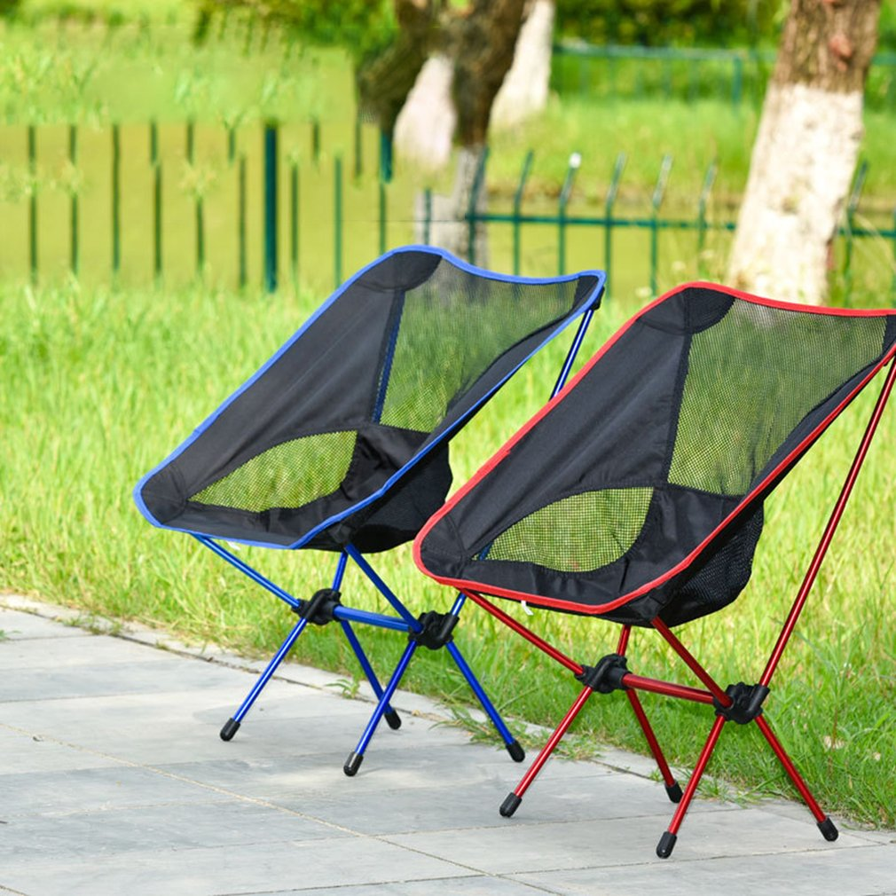 Outdoor Aluminum Folding Chair Portable Fishing Chair Director Chair Moon Chair Picnic Picnic Chair(China)